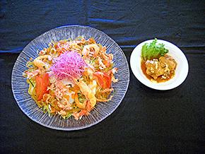 海の幸の冷やし麺